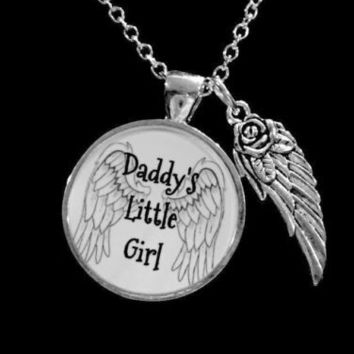 Daddy's Little Girl Angel Wing Daughter Gift Necklace