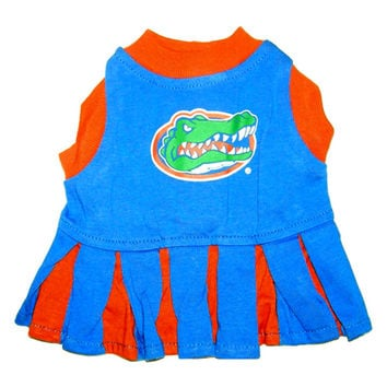 Mirage Pet Products Puppy Dog Cat Costume Florida Gators Sports Team Logo Cheer Leading Uniform SM