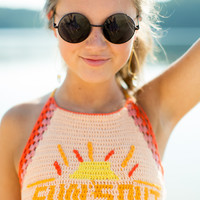 MINKPINK Suns Out Crochet Crop