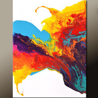 Abstract Canvas Art Original Painting 18x24 Contemporary Modern Wall Art by Destiny Womack - dWo - Rejoice