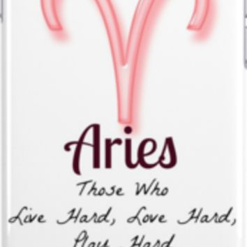 "Aries ""Live Hard, Love Hard, Play Hard"" Zodiac"
