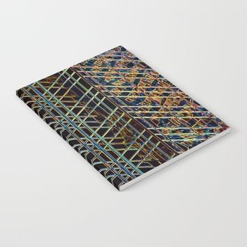 Abstract Design 1 Notebook by Claude Gariepy