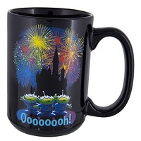 Disney Parks Pixar Alien Little Green Man Fireworks Ceramic Coffee Mug New