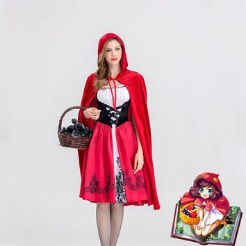 Cool halloween costumes for women sexy cosplay little red riding hood fantasy game uniforms fancy dress outfitAT_93_12