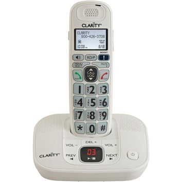 Clarity Dect 6.0 Amplified Cordless Phone With Digital Answering System