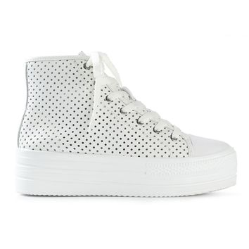 Junya Watanabe Comme Des Garçons Perforated Hi-top Trainers - Feathers - Farfetch.com