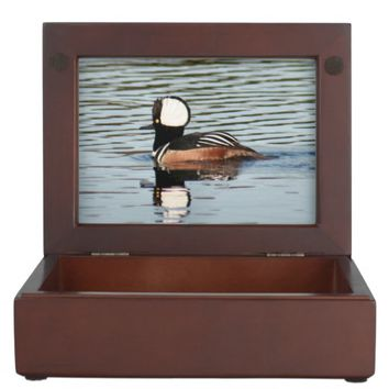 Male Merganser Duck Wooden Keepsake Box