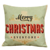 Happy High Quality Beauty 45x 45cm Vintage Christmas Sofa Bed Home Decor Pillow Case Cushion Cover