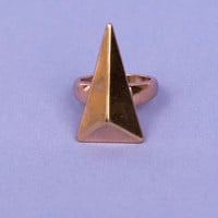 Facet Triangle Ring $15
