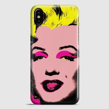 Andy Warhol Marilyn Monroe Pop Art Iconic Colorful Superstar Cute iPhone X Case