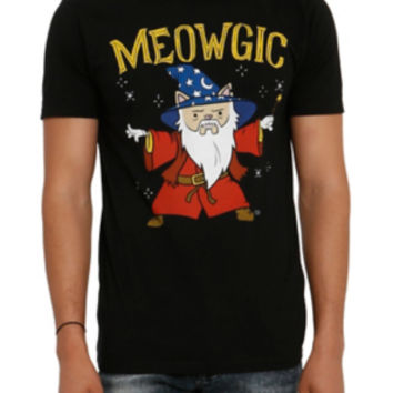 Meowgic Cat Wizard T-Shirt