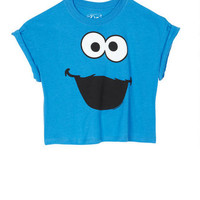 Googly Eyed Cookie Monster Burnout Tee