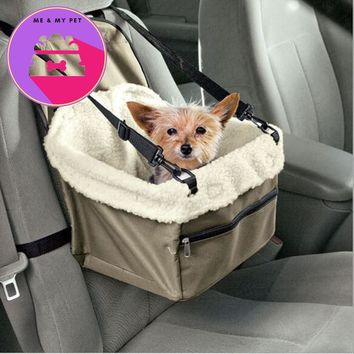 Car Carirer portable outdoor basket keep warm Pet Dog Cat Tote Crate Foldable Booster Safety Seat Bag Carrier Soft Travel Bed