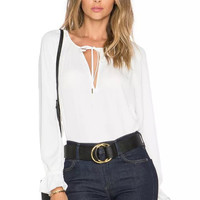 Summer Women's Fashion Simple Blouse [6513311687]