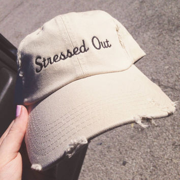 Stressed out nude tan hat