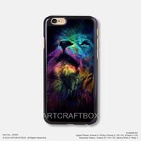 Colorful Galaxy Tiger Face iPhone 6 6Plus case iPhone 5s case iPhone 5C case iPhone 4 4S case 486
