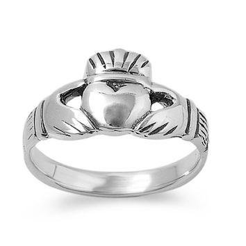 925 Sterling Silver Traditional Irish Claddagh Ring