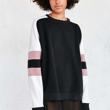 BDG Home Run Colorblock Stripe Pullover Sweatshirt - Urban Outfitters