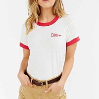 Camp Collection Staff Ringer Tee- Red