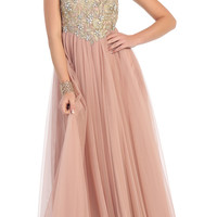 Spaghetti Strap Dress Long Floor Length Prom Homecoming Bust Design Elegant Gown