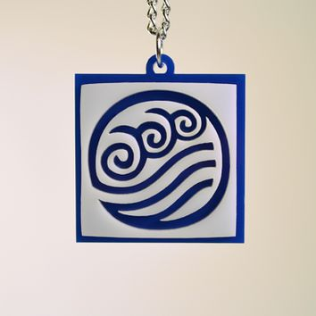Avatar Water Bender Pendant Necklace - Laser Cut Acrylic