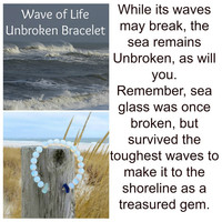 Seaglass Unbroken Bracelet by Wave of Life