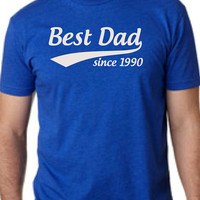 PERSONALIZE CUSTOM Best Dad T-Shirt. Customize The Year Mens T-shirt shirt tshirt gift Father's Day gift