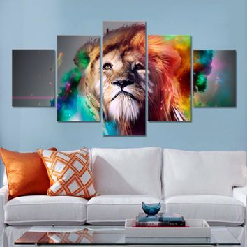 Lion Eagles Painting Wall Pictures For Living Room 5 Pieces Animal Posters and Prints