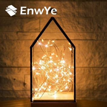 CREYL EnwYe 10m 100 Led usb 5V Christmas Lights Indoor String Copper Wire Fairy Lights for Festival Wedding Party Home Decoration Lamp