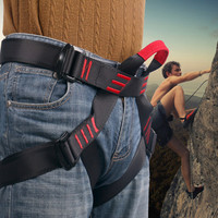 Outdoor mountaineering Safety Belt High elasticity tenacity yarn Sit Half Body Hasty Harness Belts for Rock Climbing equipment