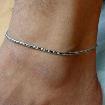 anklet,indian anklet,gypsy foot jewelry,slave anklet,ankle bracelet,belly dance indian jewelry,bells chain anklet,ethnic indian anklet