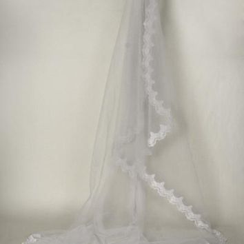 Lace chapel train wedding Veil  TS037-108 - CLOSEOUT
