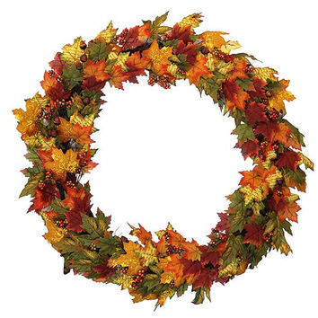 "Thanksgiving Wreath - 36 ""  - Hanger Included"