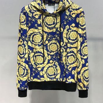 Versace Men Fashion Casual Long sleeve round neck sweater hoodie