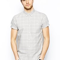 ASOS Oxford Shirt In Short Sleeve With Grid Check