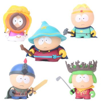 5pcs/set Anime South Park 2 Stan Kyle Kenny Cartman 6cm PVC Action Figure Collectible Model Toys for Children Gifts