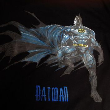 BATMAN T-shirt Painting 3d Comics Tshirt Art To Wear
