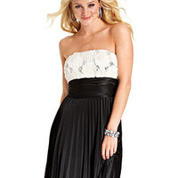 Speechless Juniors Dress, Strapless Sequin Rosette Pleated Colorblock - Dresses - Women - Macy's