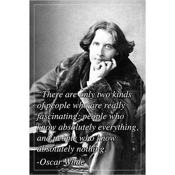 renowned english author OSCAR WILDE inspirational quote POSTER 24X36 COOL