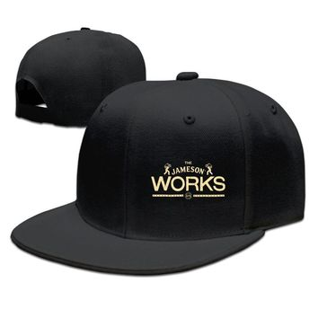Jameson Works Logo Cotton Unisex Adult Womens Hip-hop Hats Mens Hip-hop Cap