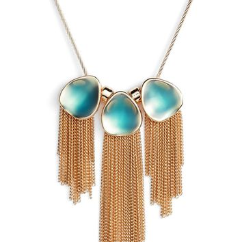 Halogen® Painted Petal Fringe Necklace | Nordstrom