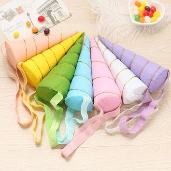 1PC Unicorn Horns Hairband Costume Headdress Colorful Elastic Hair Band Children Hair Accessories For Birthday Party