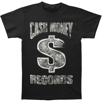 Cash Money Records Men's  CM Black Bling T-Shirt T-shirt Black