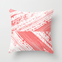 CORAL Throw Pillow by LEEMO