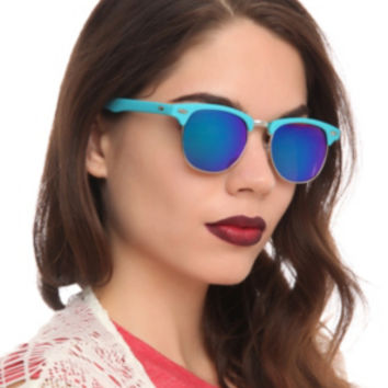 Aqua Smooth Touch Wire Sunglasses