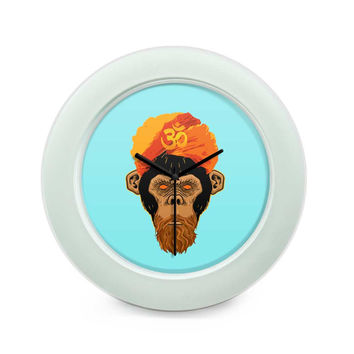 Stoned Monkey Table Clock