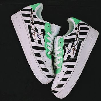 "Off-White x Nike Air Force 1 Low ""Zebra"" Sneaker 596728-919"