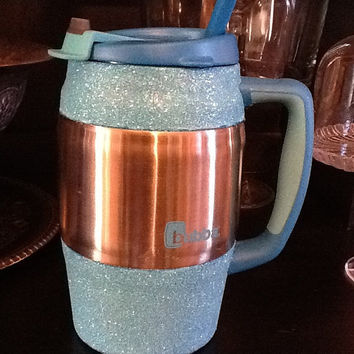 Glittered Insulated Mug / Bubba Keg  Blue by SparkleHeadToToe