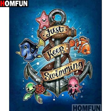 5D Diamond Painting Just Keep Swimming Dory Kit