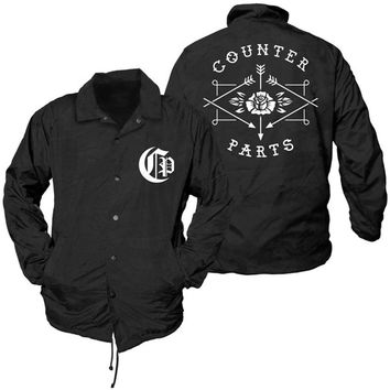 Counterparts Men's  Logo Windbreaker Black